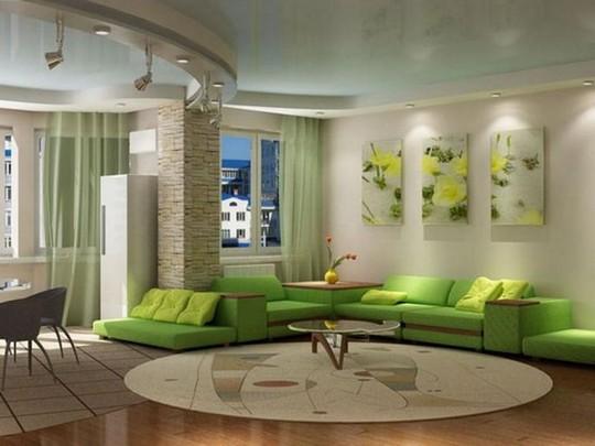 Priroda u dnevnoj sobi - okrečite u zeleno - Adaptacija stana, adaptacija pos...